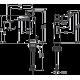 Hansgrohe Talis S 140 maišytuvas praustuvui su dugno vožtuvu, 72113000