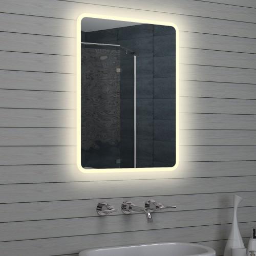 Vonios kambario veidrodis Lux-Aqua LAM1568, su LED apšvietimu, 600*800 mm