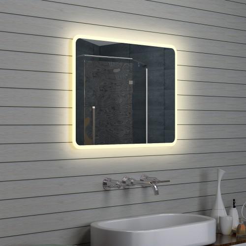 Vonios kambario veidrodis Lux-Aqua LAM1586, su LED apšvietimu, 800*600 mm