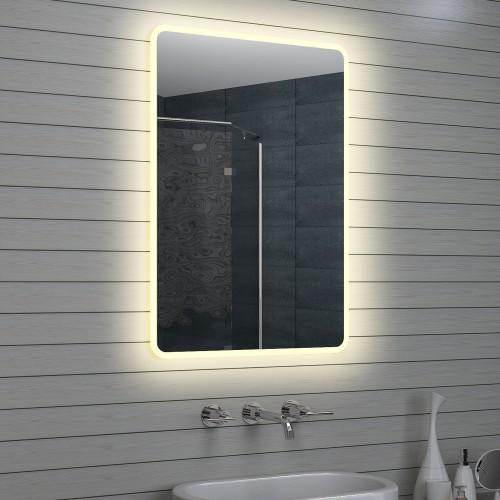 Vonios kambario veidrodis Lux-Aqua LAM15710, su LED apšvietimu, 700*1000 mm
