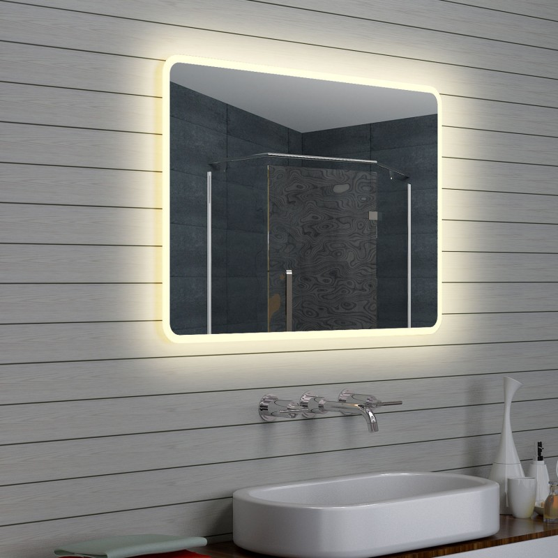 Vonios kambario veidrodis Lux-Aqua LAM15107, su LED apšvietimu, 1000*700 mm