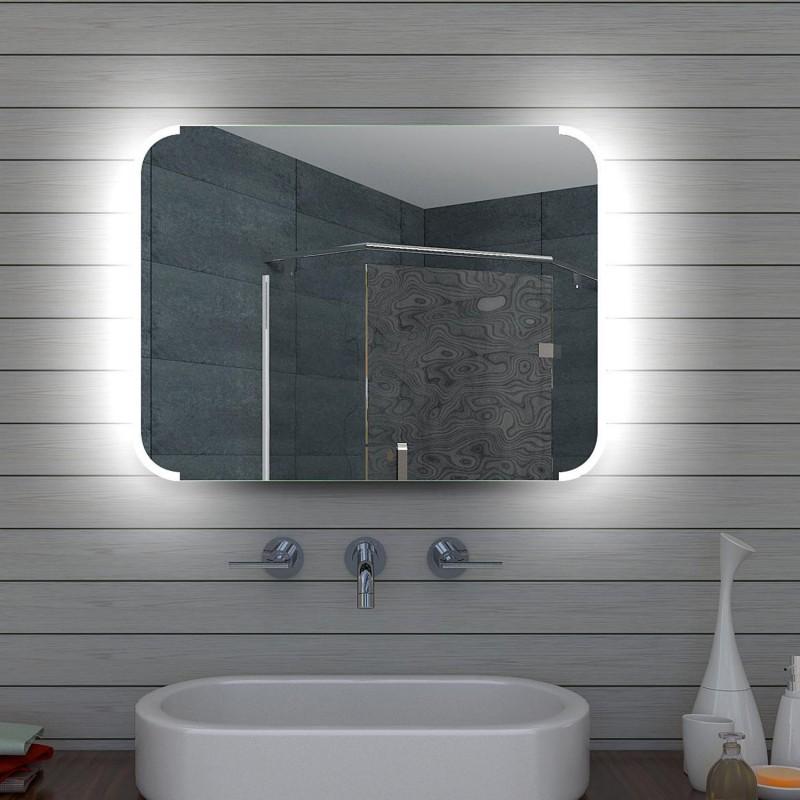 Vonios kambario veidrodis Lux-Aqua ML80, su LED apšvietimu, 800*600