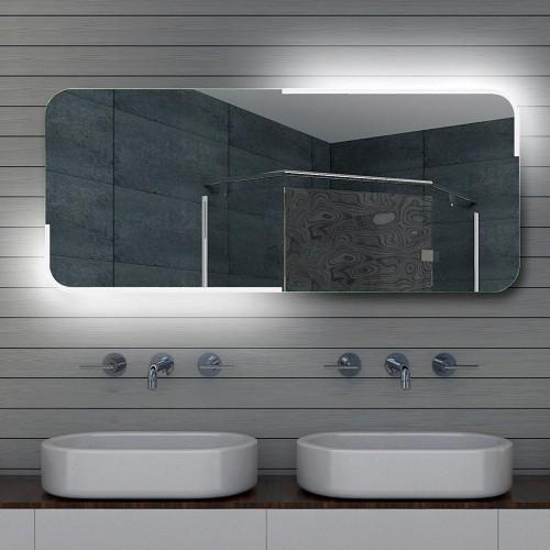 Vonios kambario veidrodis Lux-Aqua ML140, su LED apšvietimu, 1400*600