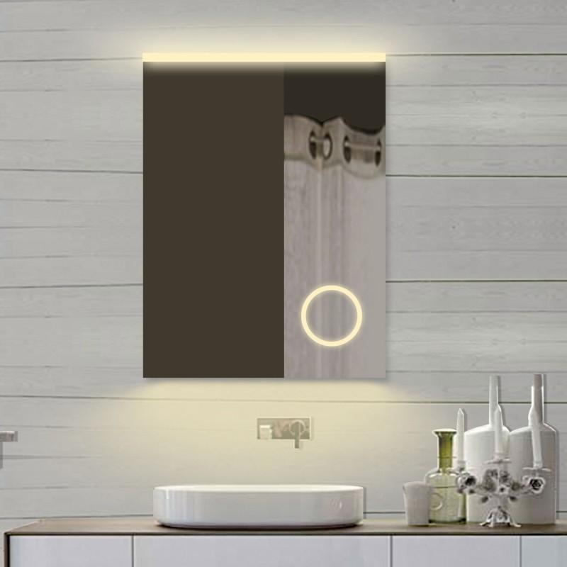 Vonios kambario veidrodis Lux-Aqua SPM62X80DP, su LED apšvietimu, 620*800