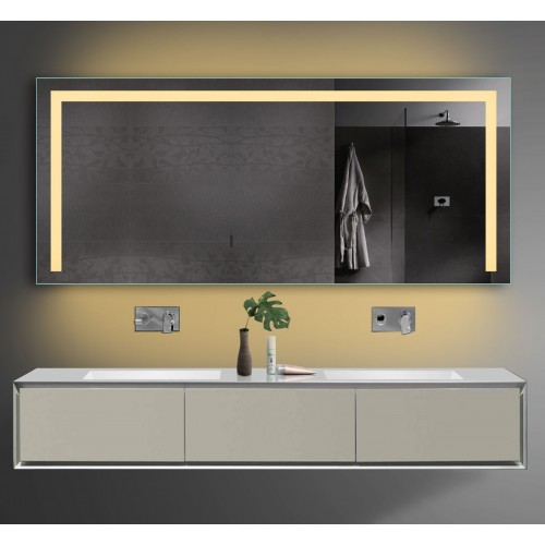Vonios kambario veidrodis Lux-Aqua TSL160-70, su LED apšvietimu, 1600*700 mm