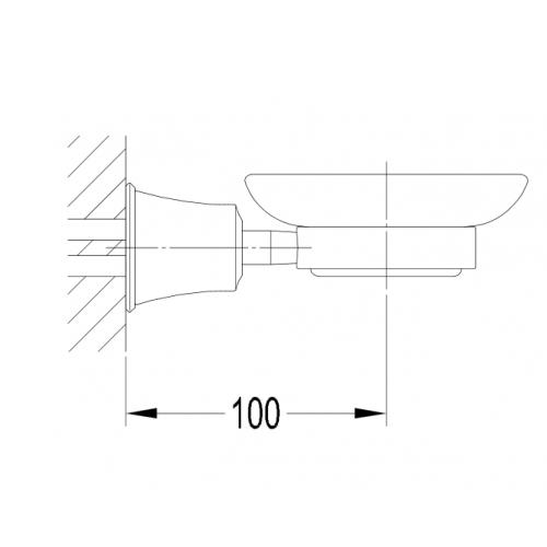 Omnires Art Line AL53420 ORB sieninė muilinė