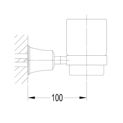 Art Line AL53320 ORB stiklinė dantų šepetėliams
