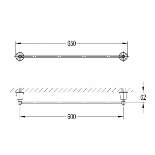 Omnires Art Line rankšluosčių kabykla AL53216 CR
