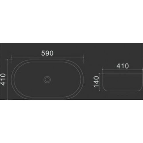 Praustuvas Lux-Aqua Rotany 59x41cm, baltas