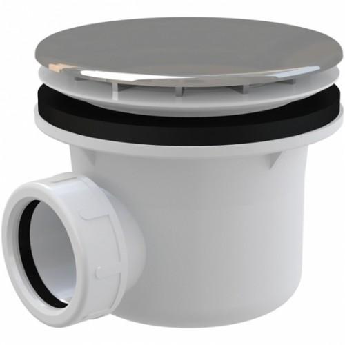 Sifonas dušo padėklui Alca Plast A49CR su chromuotu ventiliu 90mm (28 l/min)