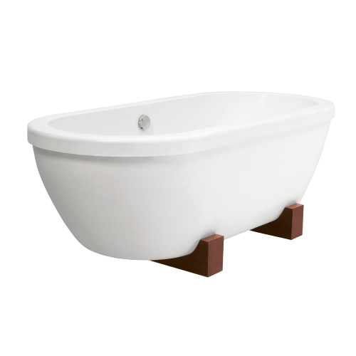 PAA Andante laisvai pastatoma vonia su medinėm kojom 1900x900 mm