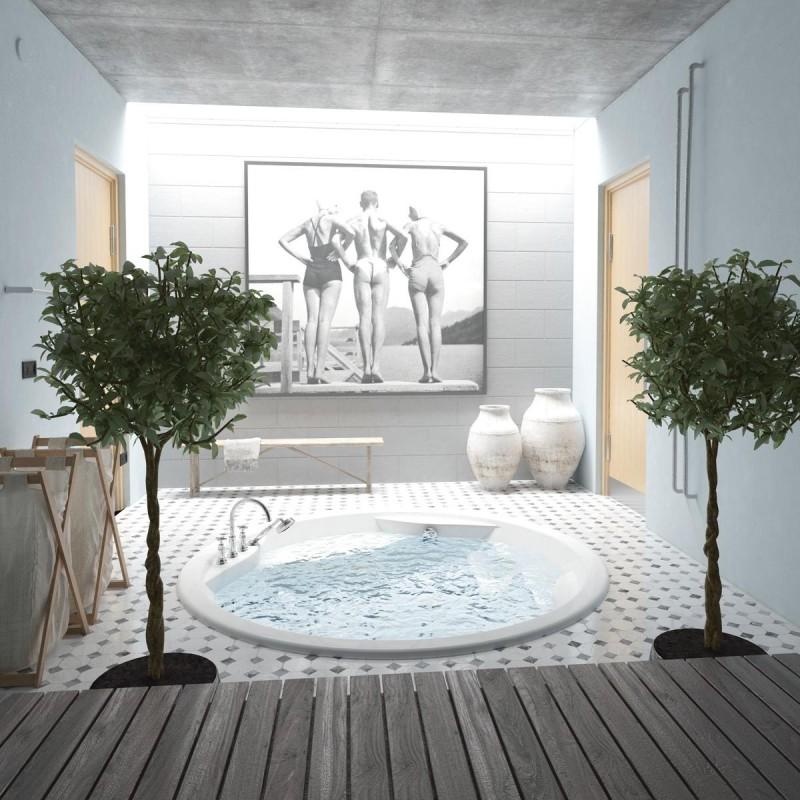 PAA Rondo akrilinė vonia 1900x1900 mm