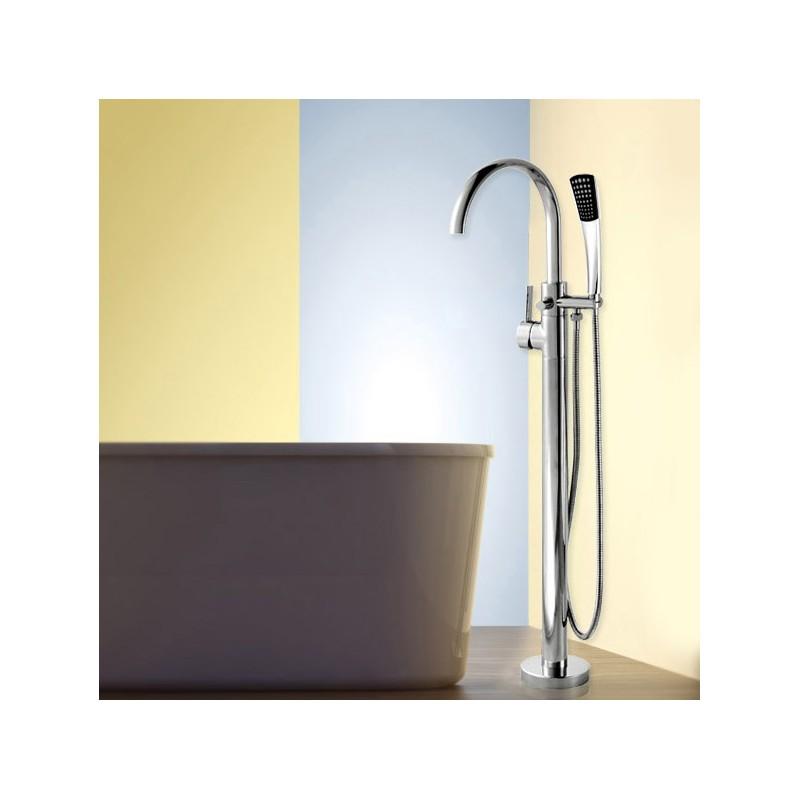 Maišytuvas voniai su dušo komplektu Lux-Aqua FA20002C-1392, montuojamas grindyse