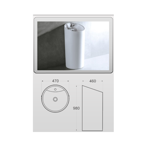 Lux-Aqua 40129 praustuvas statomas ant grindų, 470*460*960 mm