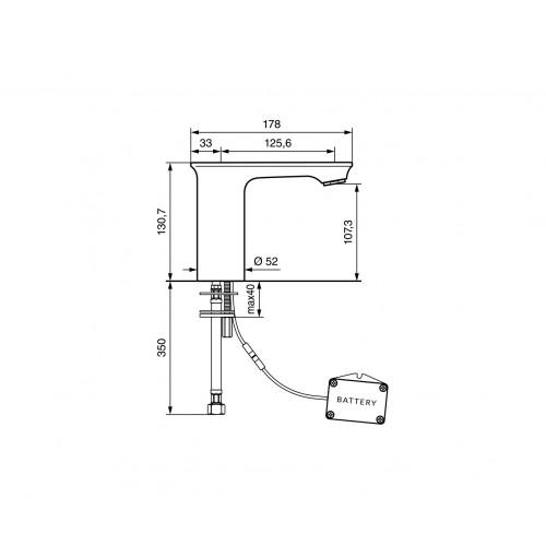 Emmevi Kiry sensorinis maišytuvas praustuvui, CR88003SEN