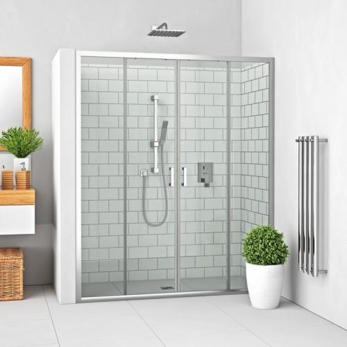 Roth LLD4 slankiojančios dušo durys montavimui į nišą
