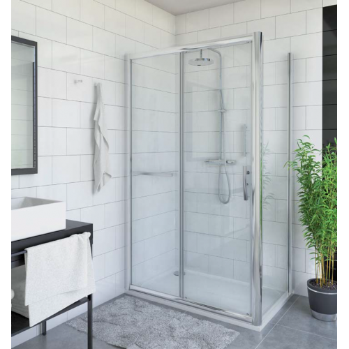 Roltechnik PXD2N + PXBN stačiakampė dušo kabina su stumdomomis durimis