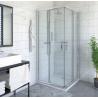 Roltechnik PXR2N DESIGN PLUS pusapvalė dušo kabina su dviejų elementų atveriamomis durimis