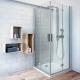Roth TZOL1+TZOP1 kvadratinė dušo kabina sulankstomomis durimis
