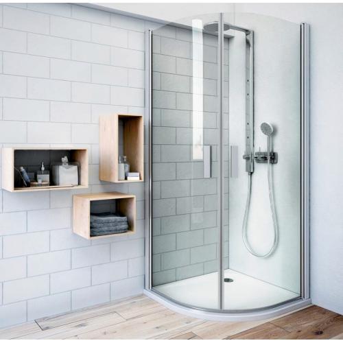 Roth TR1 pusapvalė dušo kabina su dviejų elementų atveriamomis durimis