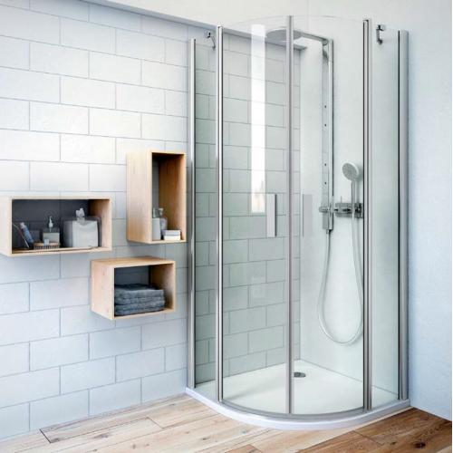 Roth TR2 pusapvalė dušo kabina su dviejų elementų atveriamomis durimis