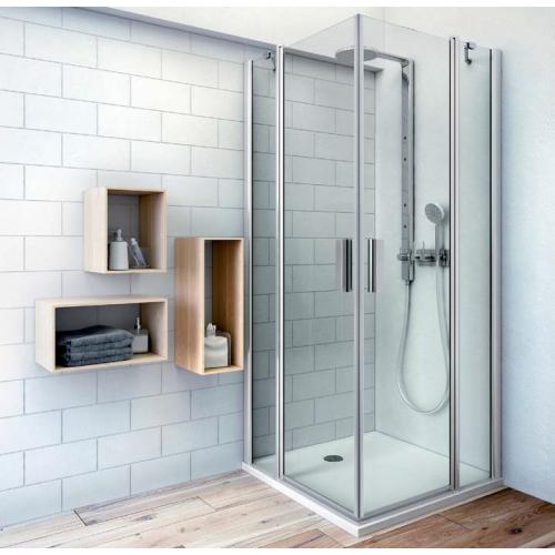 Roth TDO1+TDO1 kvadratinė dušo kabina su dviejų elementų atveriamomis durimis