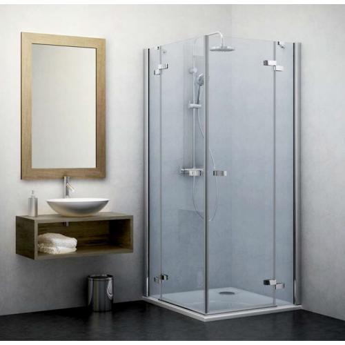 Roltechnik GDOL1+GDOP1 kvadratinė dušo kabina su atveriamomis durimis