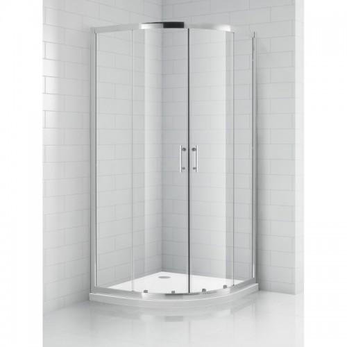 SaniPro OBR2 / 900 pusapvalė dušo kabina su slankiojančiomis durimis