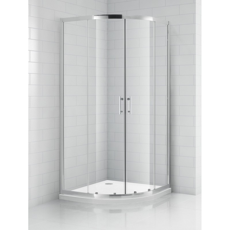 SaniPro OBR2 / 800 pusapvalė dušo kabina su slankiojančiomis durimis