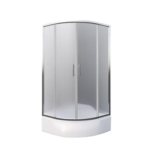 SaniPro Portland NEO / 900 pusapvalė dušo kabina su slankiojančiomis durimis