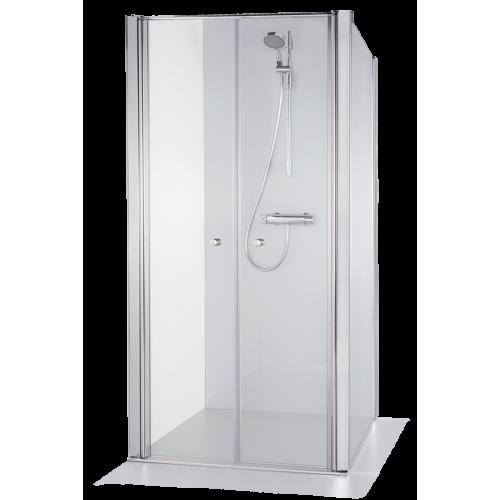 Brasta Glass kvadratinė dušo kabina Erika 100x100 cm, stiklo spalva pasirinktinai