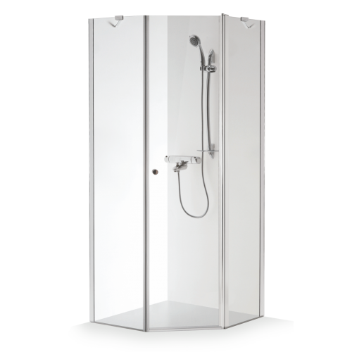 Brasta Glass penkiakampė dušo kabina Lina 80x80 cm, stiklo spalva pasirinktinai