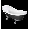 Omnires Marble+ vonia iš lieto marmuro Atena Black, 168*76 cm