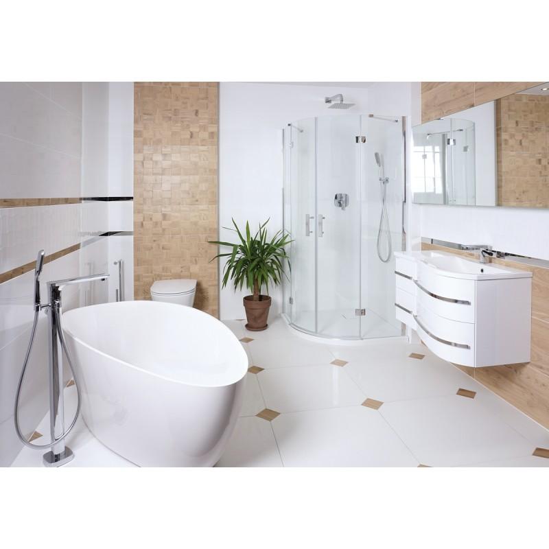 Omnires Marble+ vonia iš lieto marmuro Barcelona, 156*71 cm