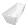 Omnires Marble+ vonia iš lieto marmuro London blizgi balta, 159*65 cm