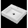 Omnires Marble+ Thasos 500 ant stalviršio montuojamas praustuvas 500*420 mm