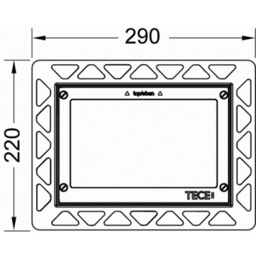 TECE rėmelis integruotam montavimui (WC nuleidimo plokštelei)