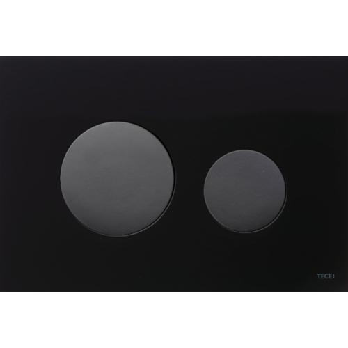 TECEloop vandens nuleidimo plokštelė stikliniu paviršiumi, stiklas juodas, mygtukai juodi