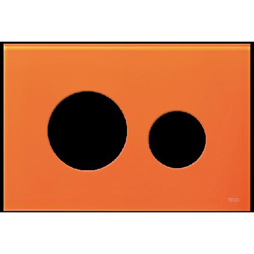 TECEloop stiklinis nuleidimo klavišo paviršius, stiklas oranžinės spalvos