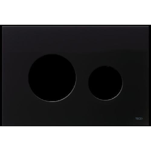 TECEloop stiklinis nuleidimo klavišo paviršius, stiklas juodos spalvos