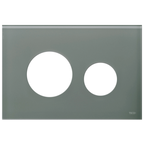 TECEloop stiklinis nuleidimo klavišo paviršius, stiklas mėlynai pilkos spalvos