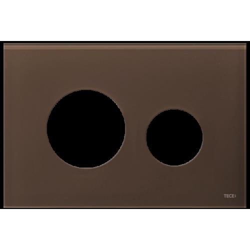 TECEloop stiklinis nuleidimo klavišo paviršius, stiklas rudos (kavos) spalvos