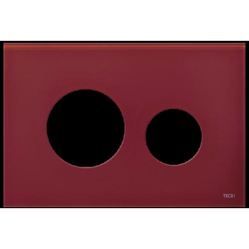 TECEloop stiklinis nuleidimo klavišo paviršius, stiklas raudonos (rubino) spalvos