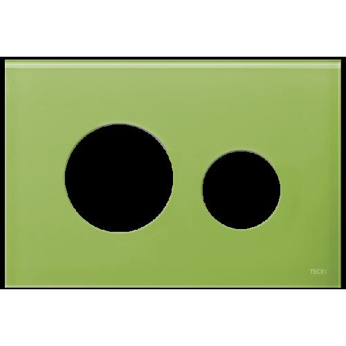 TECEloop stiklinis nuleidimo klavišo paviršius, stiklas žalios (žolės) spalvos