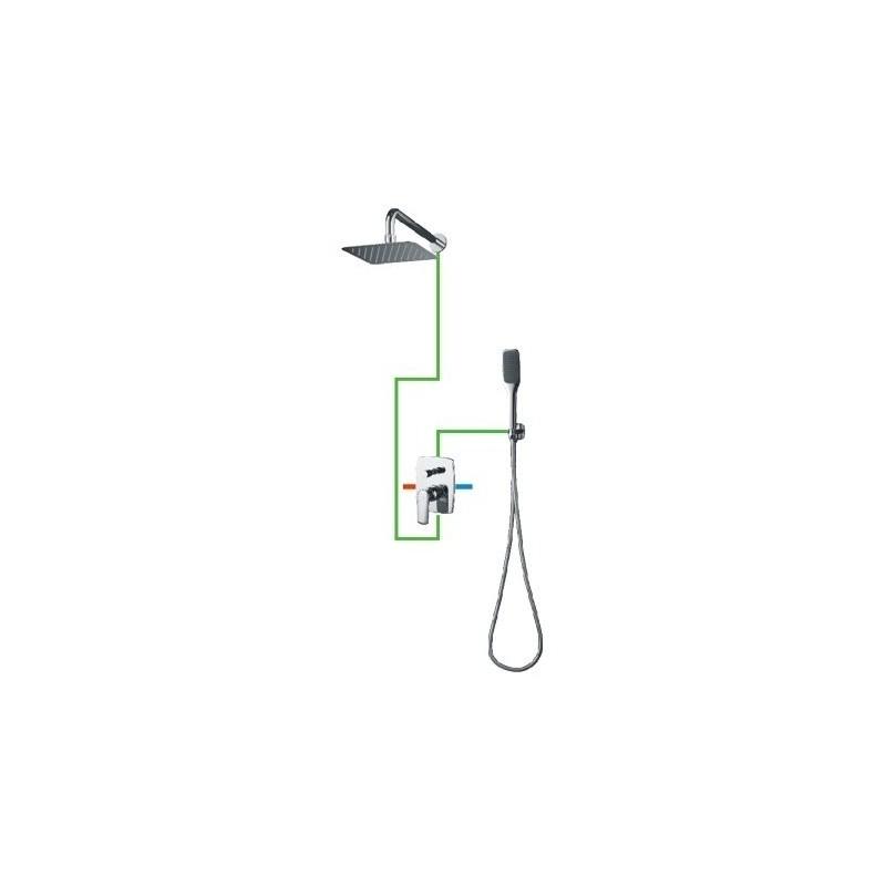 Potinkinis dušo komplektas Omnires Ebro SYS EB10-X