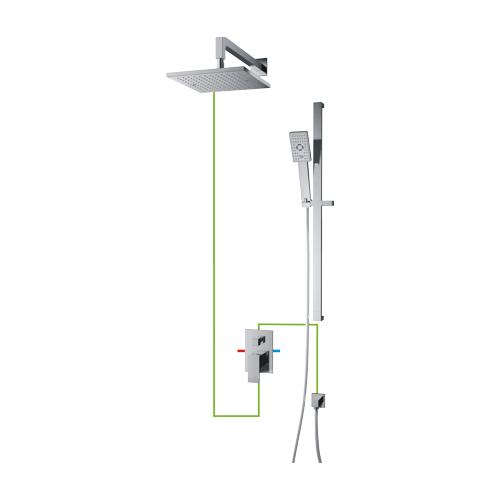 Potinkinė dušo sistema Omnires Fresh SYS FR11