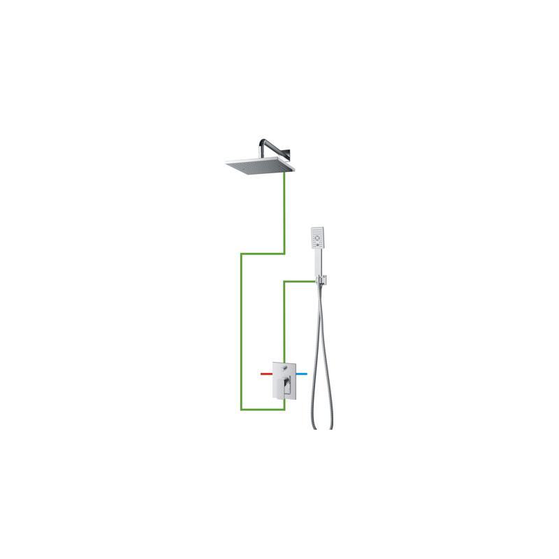 Potinkinė dušo sistema Omnires Kansas SYS KN10