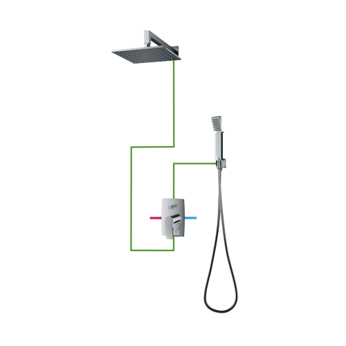 Potinkinė dušo sistema Omnires Murray SYS MU20