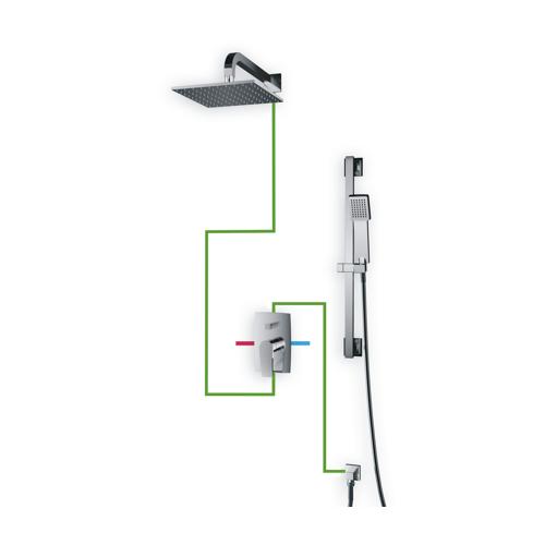 Potinkinis dušo maišytuvas su dušo sistema Omnires Murray SYS MU13 A