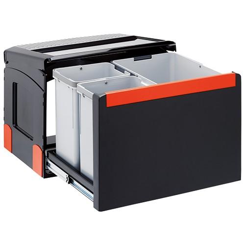 Franke šiukšlių rūšiavimo sistema 50cm pločio spintelei CUBE 50 (1x14 l, 2x8 l)